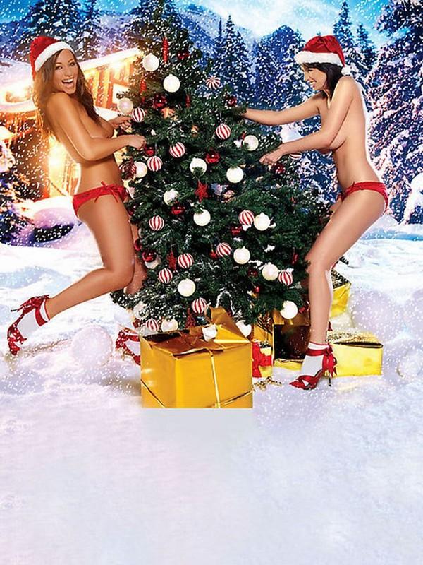 Обои и картинки 600x800 208KB Девушки Новогодние девушки