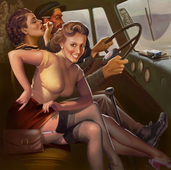 Рисованные эротические обои фото 299-239