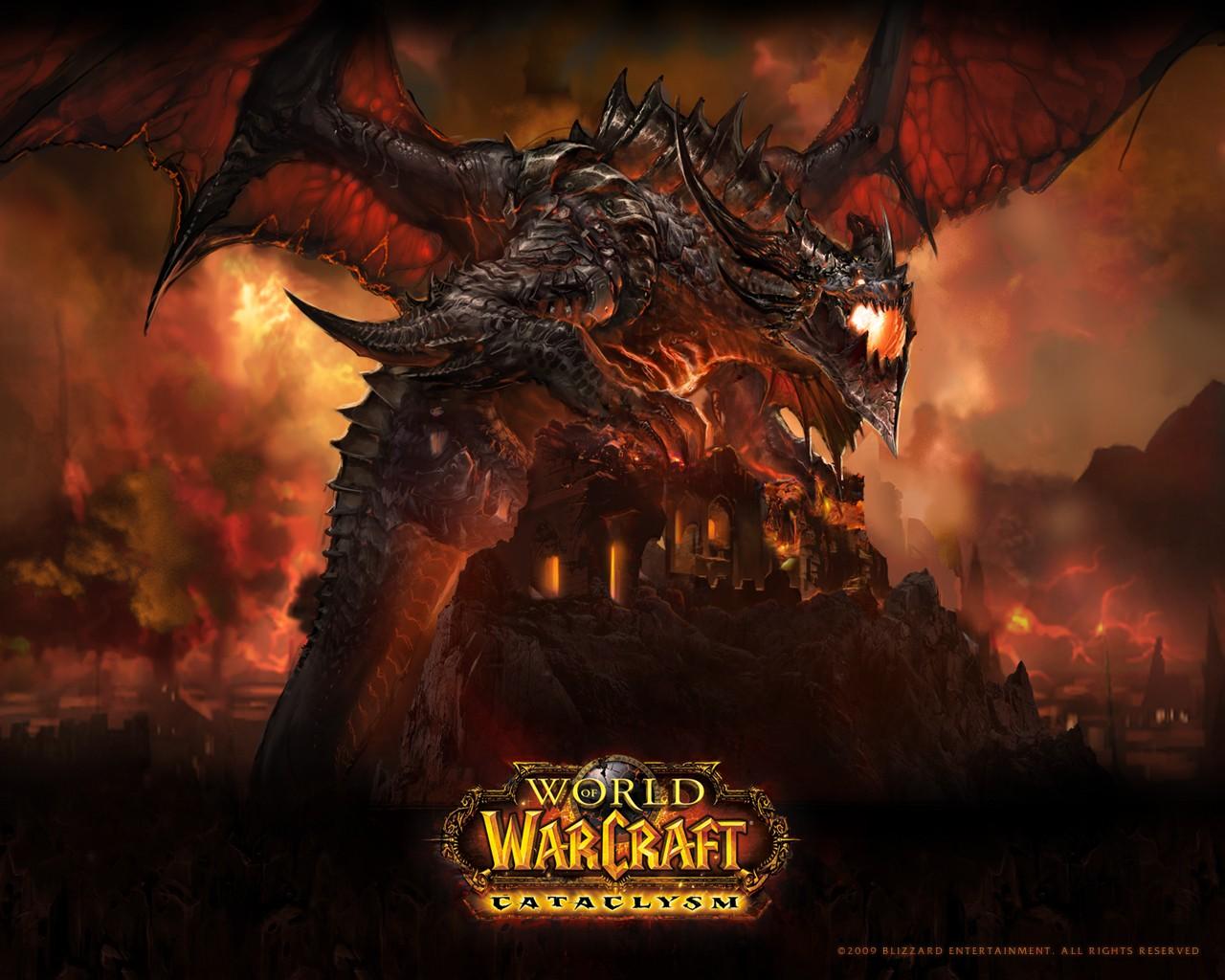 Дракон над крепостью 1280x1024 255KB World of WarCraft
