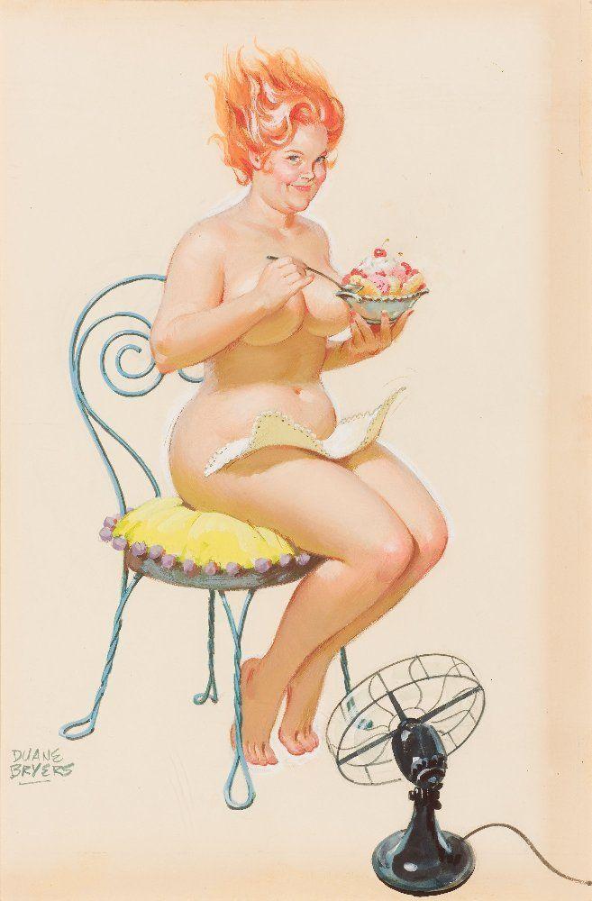 Голая девушка кушает 657x1000 78KB Рисованная эротика трапеза Эротика