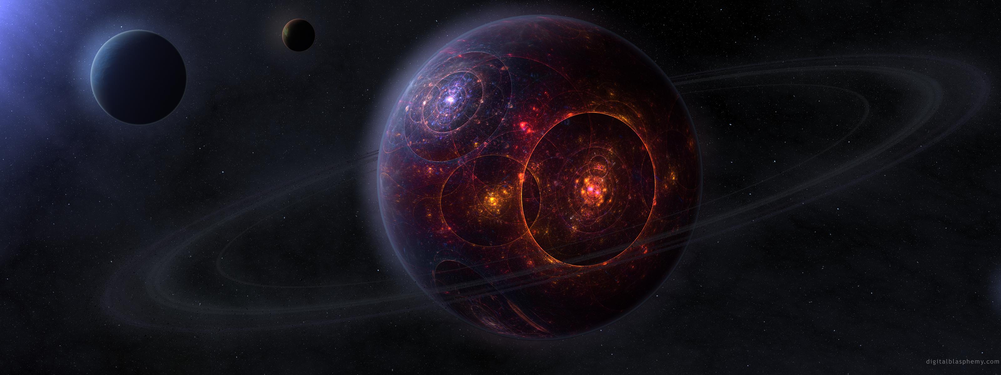 Космическая величественная красота 3200x1200 1838KB Космос