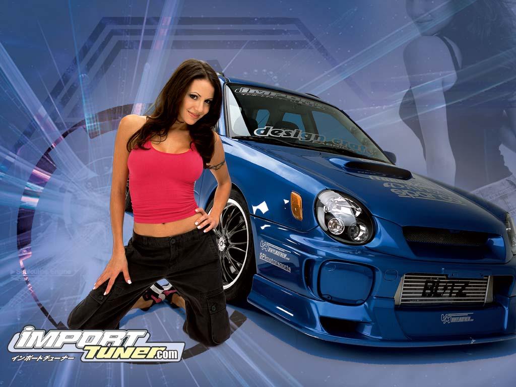 Девушка и автомобиль 1024x768 92KB Девушки и машины