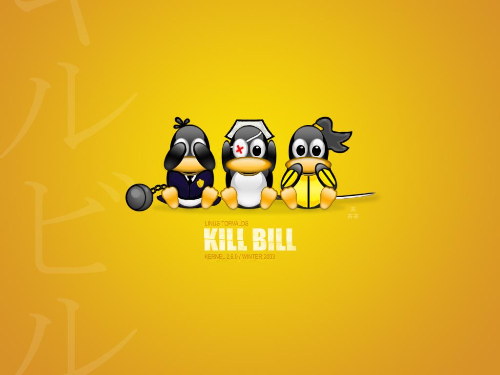 Три пингвина 1024x768 210KB Linux
