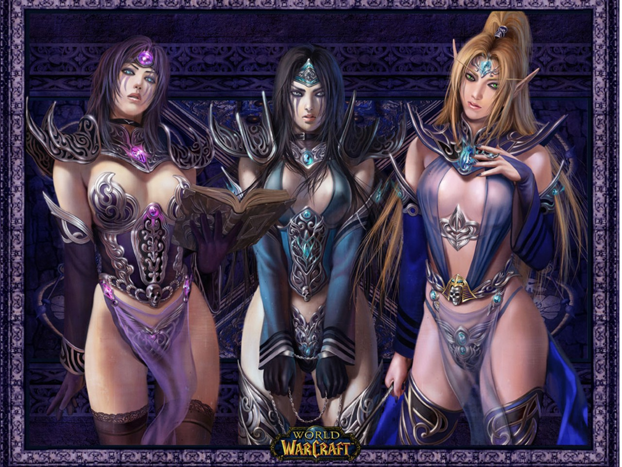 Три девушки 1280x960 352KB World of WarCraft