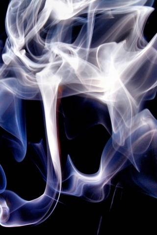Обои и картинки 320x480 87KB Фигуры из дыма сигарет
